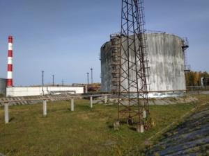 Вид резервуара для зачистки