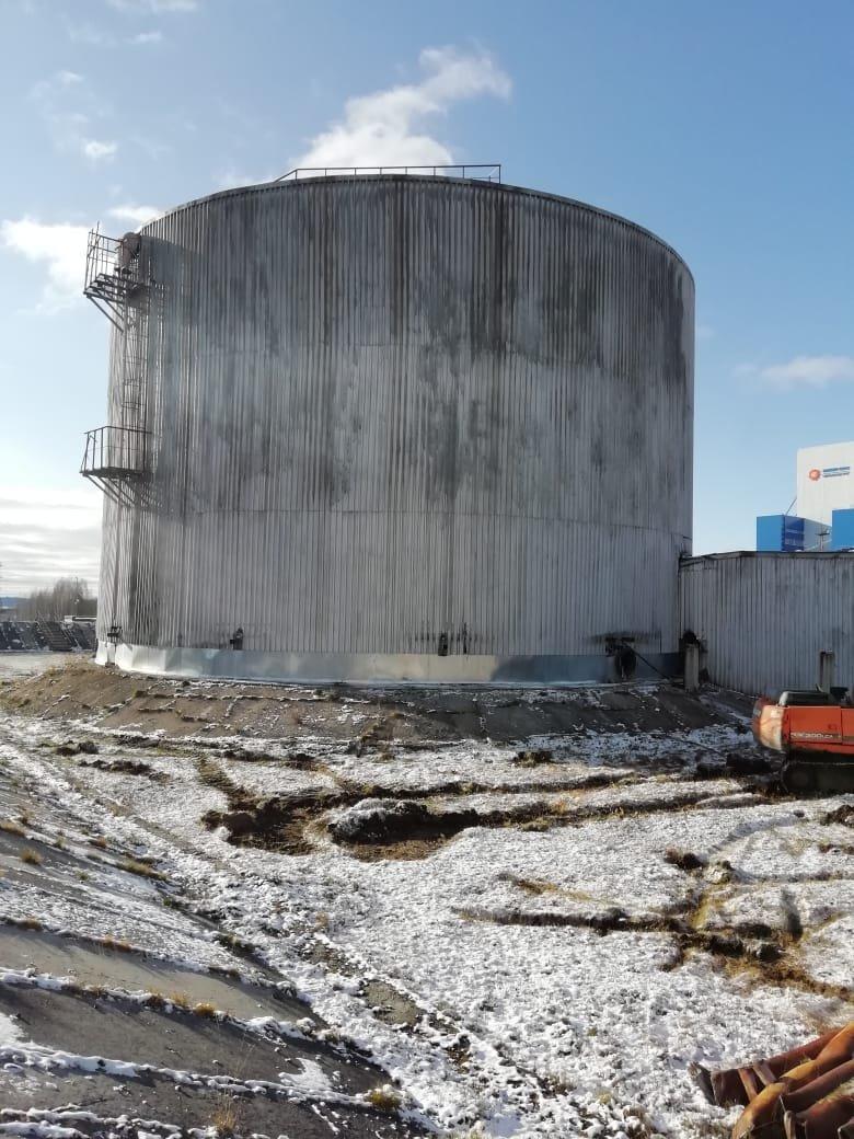 Надземный резервуар большого объема 10 000 кубометров (РВС-10 000)