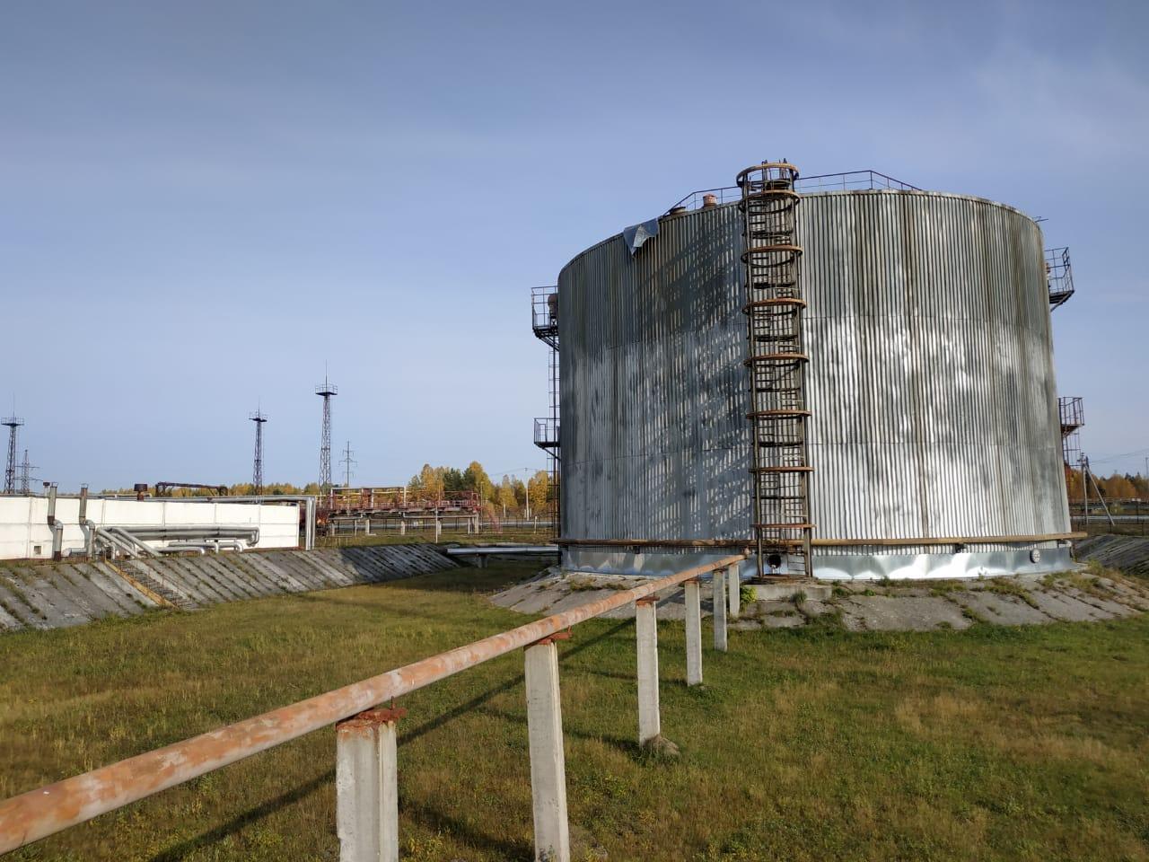 Зачистка резервуара РВС 10000